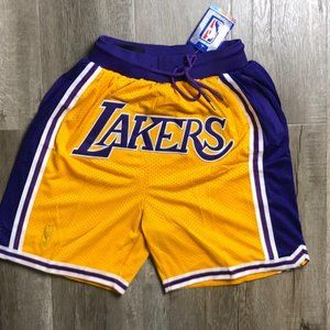 NWT🍕Just Don NBA Lakers Sportswear fitness Shorts